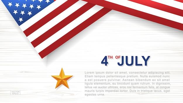 Fondo del 4 de julio para el día de la independencia de los estados unidos de américa.
