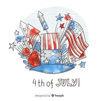 Fondo del 4 de julio -  día de la independencia