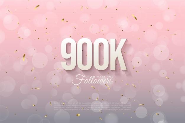 Fondo de 900k seguidores