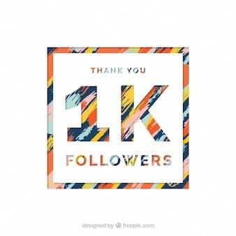 Fondo abstracto de 1k de seguidores