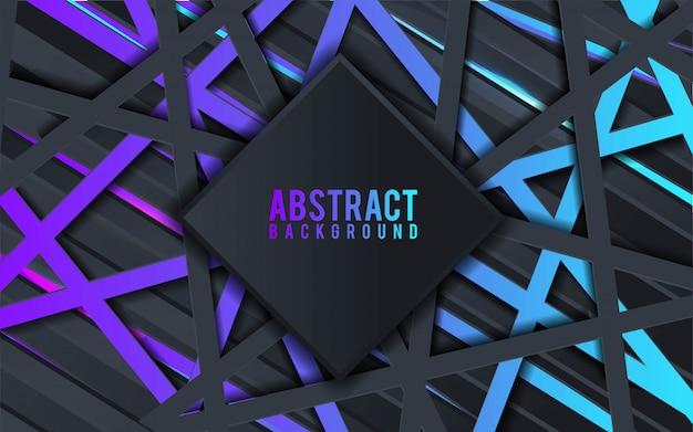 Fondo abstracto 3d con capas de papel negro