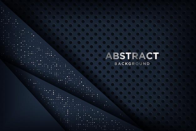 Fondo abstracto en 3d con una combinación de puntos luminosos