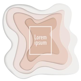 Fondo abstracto 3d con diseño de formas de corte de papel