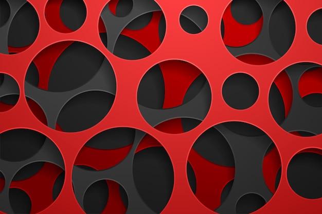 Fondo abstracto 3d con formas de corte de papel