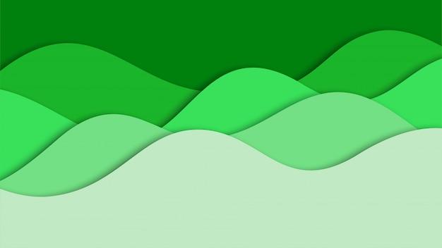 Fondo abstracto 3d y formas de corte de papel