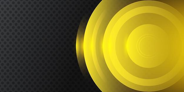 Fondo abstracto 3d negro amarillo moderno