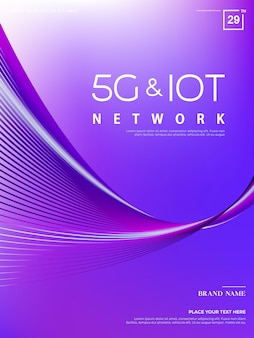 Fondo abstracto 5g, tecnología de red 5g