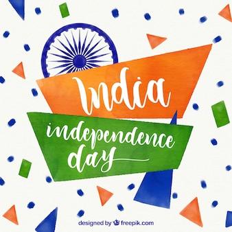 Fondo abstracto de acuarela del día de la independencia de la india