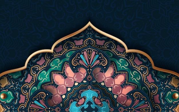 Fondo abstracto con adornos tradicionales