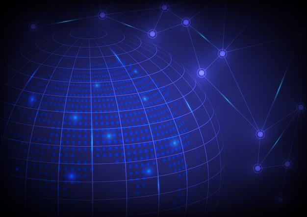 Fondo abstracto de alta tecnología mundial