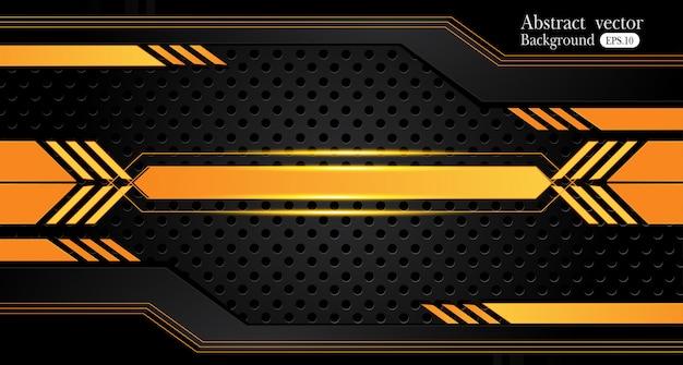 Fondo abstracto amarillo y negro anaranjado del negocio. diseño del vector.