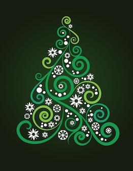 Fondo abstracto del árbol de navidad para cartel, pancarta o tarjeta de felicitación