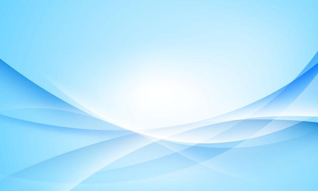 Fondo abstracto azul y blanco con resumen de onda para cartel - banner