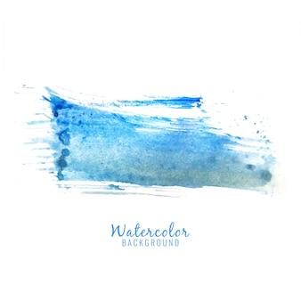 Fondo abstracto azul con diseño de chapoteos de acuarela