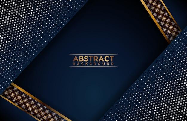 Fondo abstracto azul y dorado