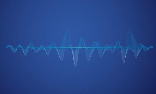 Fondo abstracto azul ecualizador digital