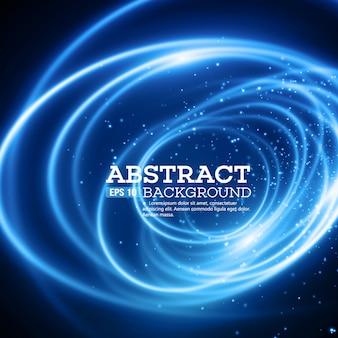 Fondo abstracto azul efecto de luces