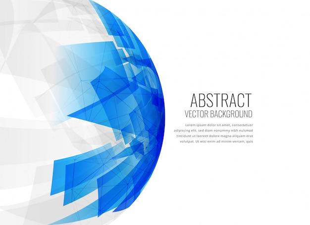 Fondo abstracto azul esfera 3d