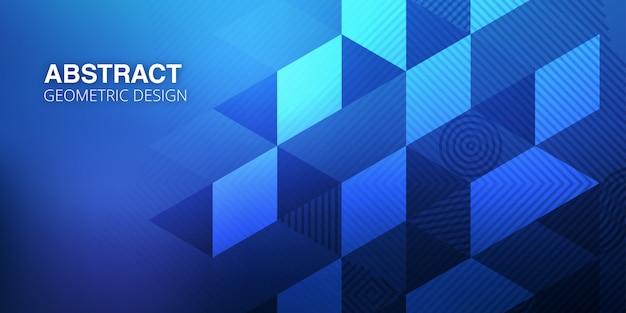 Fondo abstracto azul con formas geométricas