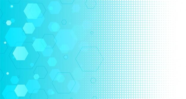 Fondo abstracto azul formas hexagonales