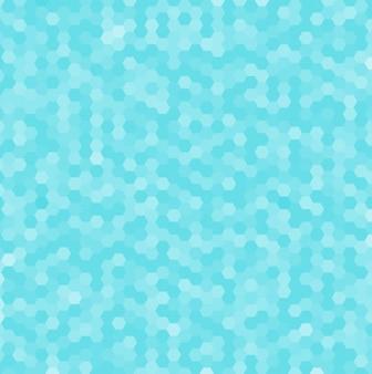 Fondo abstracto azul hexagonal