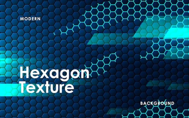 Fondo abstracto azul del hexágono