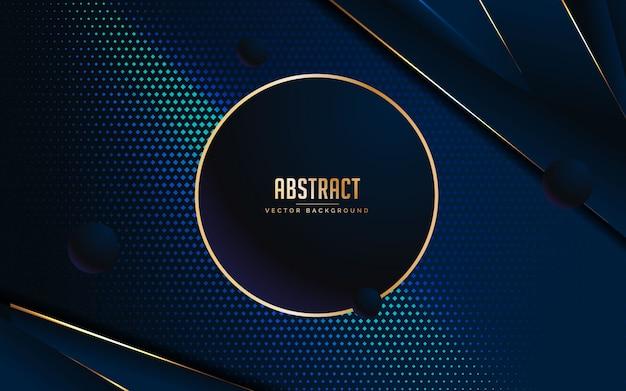Fondo abstracto azul y negro