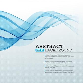 Fondo abstracto azul olas