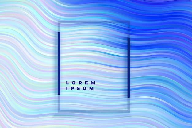 Fondo abstracto azul de la onda despojado