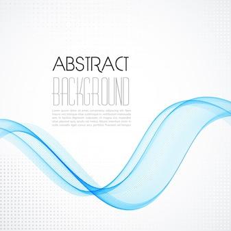 Fondo abstracto azul onda transparente