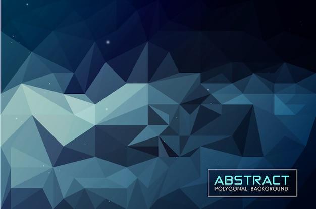 Fondo abstracto azul oscuro bajo poli