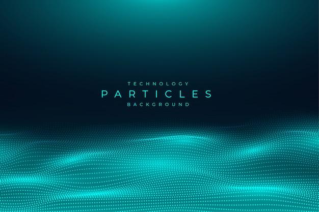 Fondo abstracto azul partículas de tecnología