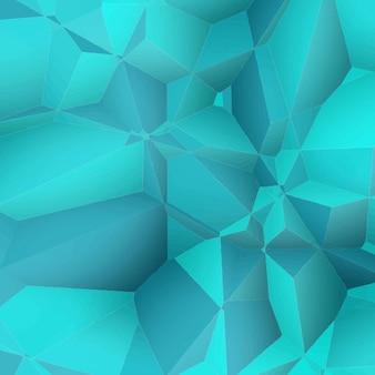 Fondo abstracto azul poligonal