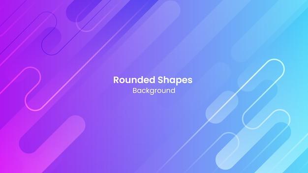 Fondo abstracto azul y púrpura formas redondeadas