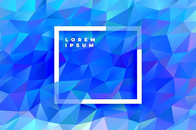 Fondo abstracto azul triángulo poli baja