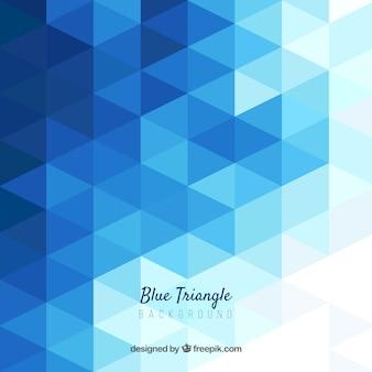 Fondo abstracto azul con triángulos