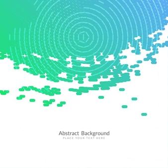Fondo abstracto azul y verde con formas circulares