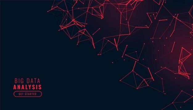 Fondo abstracto de baja poli en color rojo