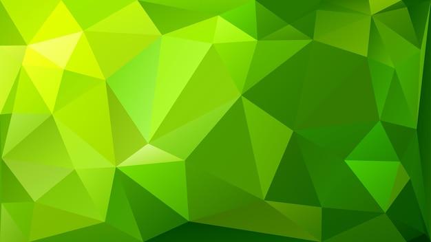 Fondo abstracto de baja poli de triángulos en colores verdes