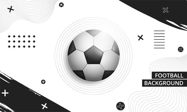 Fondo abstracto con balón de fútbol