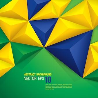Fondo abstracto de la bandera de brasil