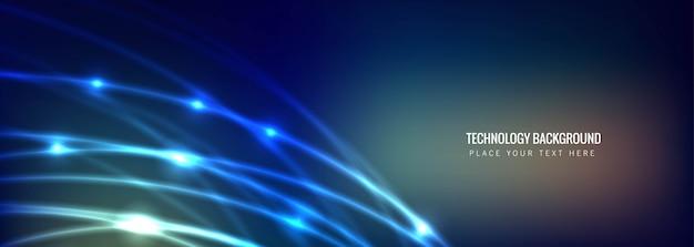 Fondo abstracto de la bandera de la tecnología