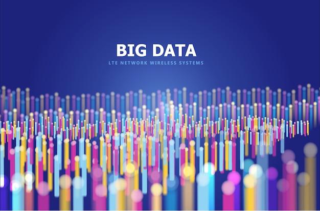 Fondo abstracto de big data