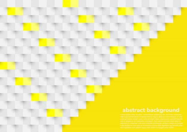 Fondo abstracto blanco y amarillo en estilo de papel 3d