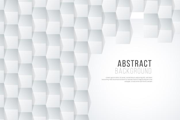 Fondo abstracto blanco en concepto de papel 3d