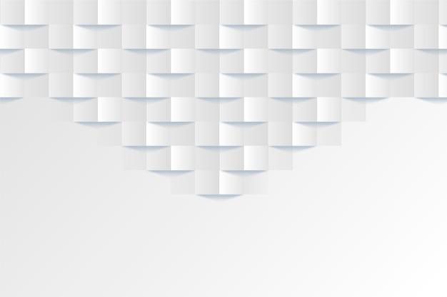 Fondo abstracto blanco en diseño 3d