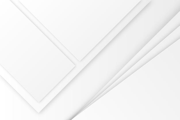 Fondo abstracto blanco en estilo de papel 3d