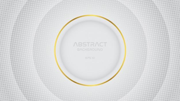 Fondo abstracto blanco gris con línea de oro