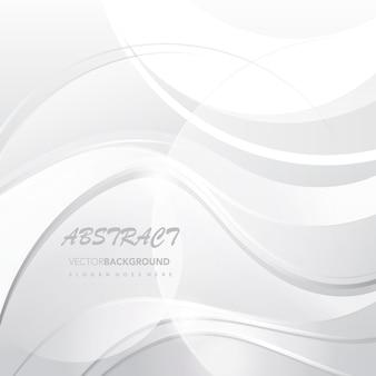 Fondo abstracto blanco ondulado