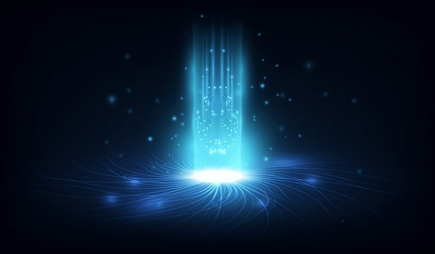 Fondo abstracto del blockchain de las redes del circuito